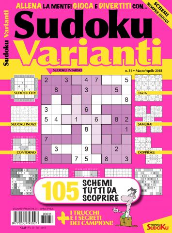 copertina sudoku varianti